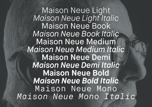 Maison Neue, now available by Milieu Grotesque #typography