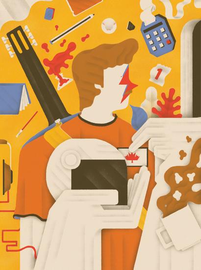 http://www.sergiomembrillas.com #flat #big #helmet #color #illustration #hands