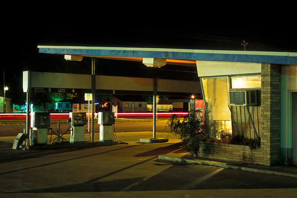 photo #fuel #color #hopper #night #petrol #painting #usa