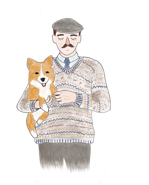 original illustrations for Max (June 2013) #corgi #illustration #men #fashion #knitwear