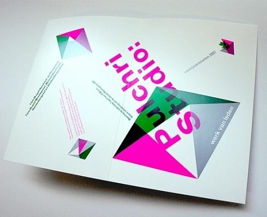 Pulchri Studio - Erik de Vlaam - Studio Dumbar #graphic design #leaflet