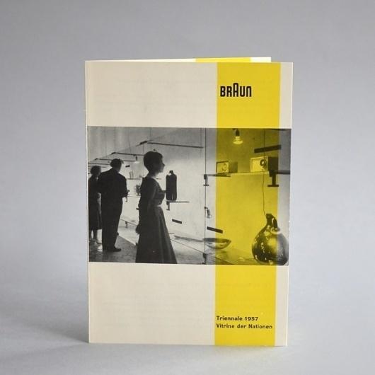 Braun electrical - Print material / artwork - Braun Milan Triennale 1957 card #1957 #design #braun #vintage #layout #brochure