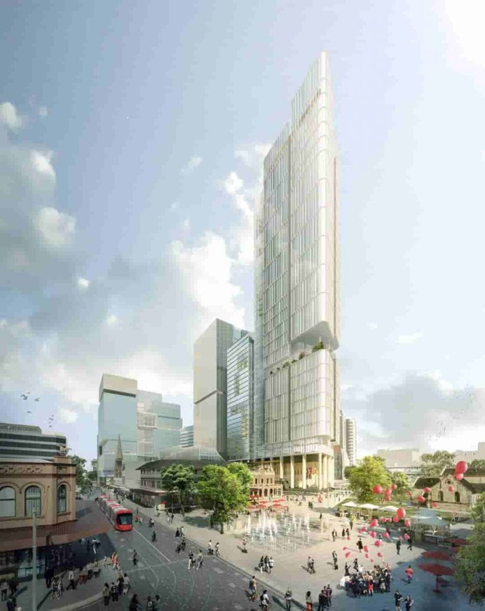 Full Render of the Parramatta Square 6 & 8 Development