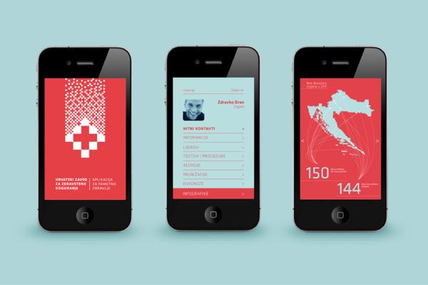 Croatian Institute for Health Insurance #croatia #branding #health #app #identity