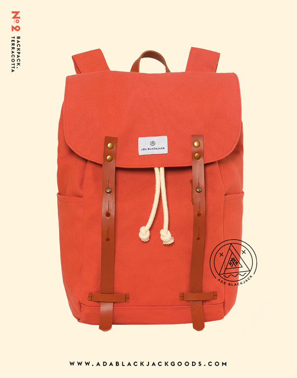 adablackjack:Our No. 2 Backpack, TerracottaAvailable at www.adablackjackgoods.com #happy