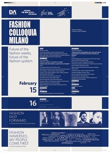 graphic design of Fashion Colloquia Milan #academy #domus #colloquia #poster #fashion