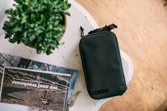Gravel's Toiletry Bag - IPPINKA This small bag has separate pockets designed to fit these following products: deodorant & razor, toothbrush