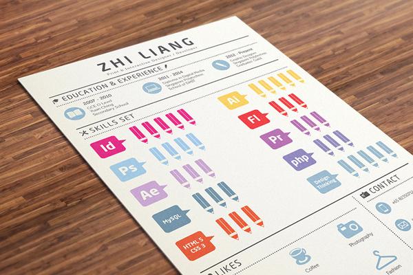 Infographics Resume on Behance