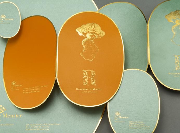 Le Meurice Restaurant by Soins Graphiques #gold #branding #restaurant