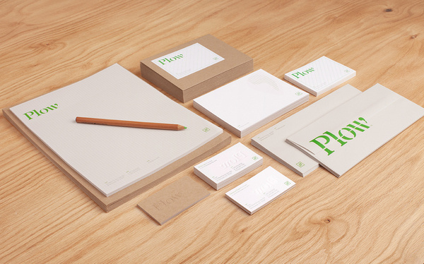 Plow Stationery #logotype #collateral #stationery