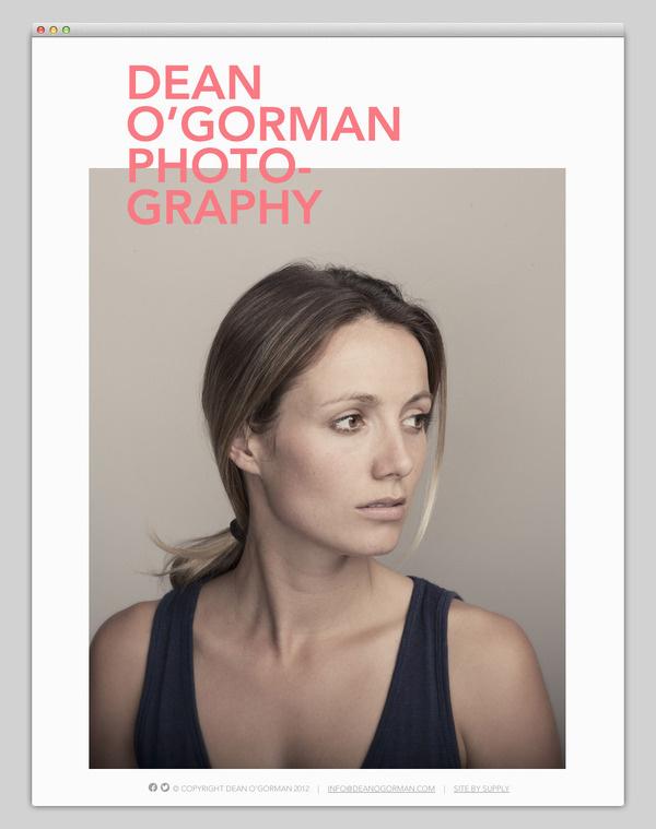 DeanO'Gormans #website #layout #design #web