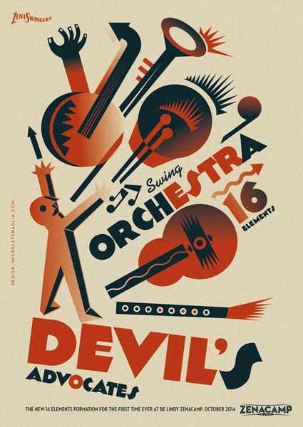 #poster #vintage #retro #lindyhop #swing #depero #futurism #micheletenaglia