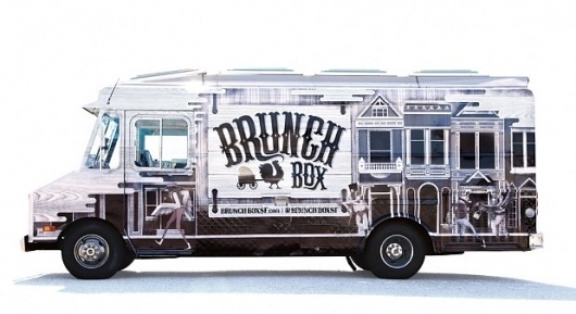 Brunch Box | The Black Harbor #truck #lettering #brunch #design #box #food #illustration #identity #type