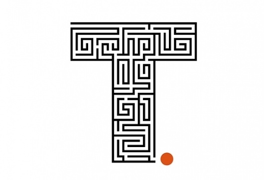 Creative Review - A path out of the maze #type #letter #maze #logo