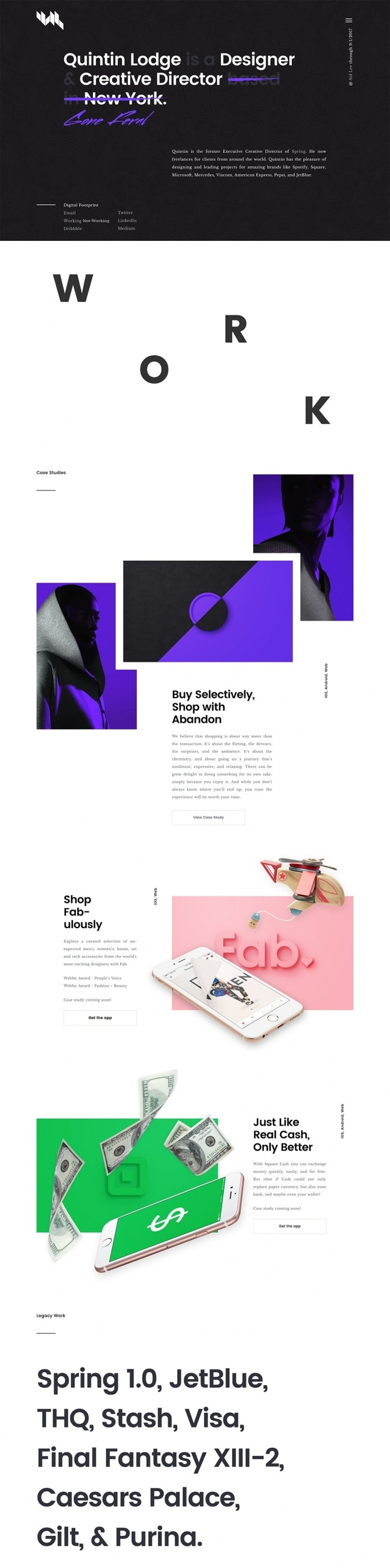 Quintin Lodge - Mindsparkle Mag - Quintin is the former Executive Creative Director of Spring. He now freelances for clients from around the