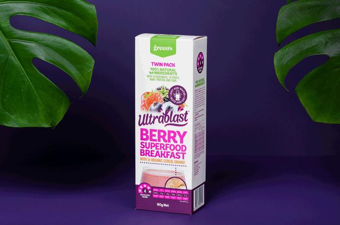 Ultrablast, Breakfast Smoothie   Food Branding and Packaging Design   Studio Marche