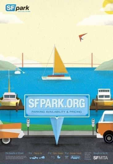The Black Harbor    SFpark #francisco #illustration #san #poster