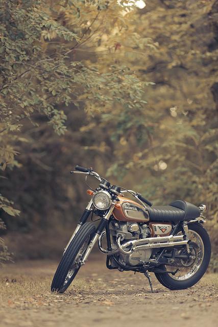 brat track 1031 | Flickr Photo Sharing! #honda #motorcycle #cl350