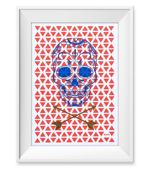 Mexico Limited Poster print #Poster #goldfoil #foil #posterdesign #skulls #skull