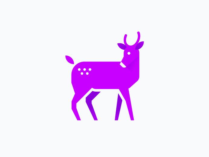 Deer by Sascha Elmers #deer #geometric #iconic #illustration #minimal #gradient #animal