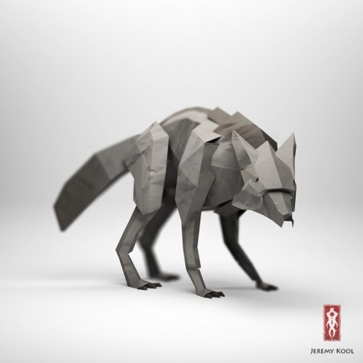jeremyKool_wolf.png (600×600) #inspiration #paper