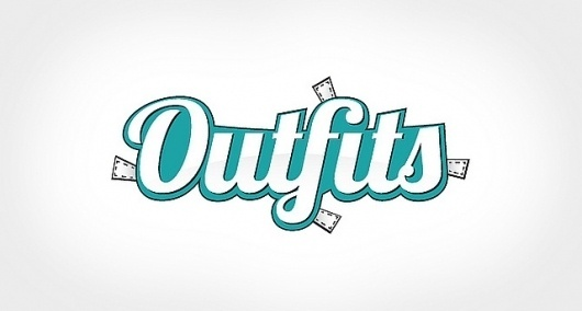 Outfits Logo | Flickr - Photo Sharing! #art #fashion #logo #web #typography