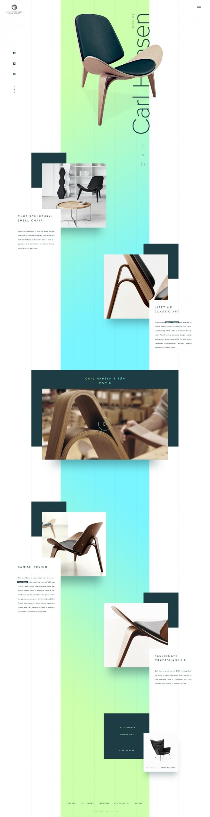 Carl Hansen & Søn – Product page exploration