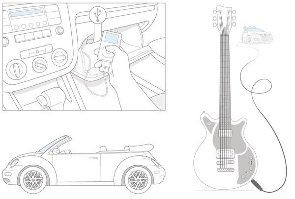 VW instructions #illustration #instruction
