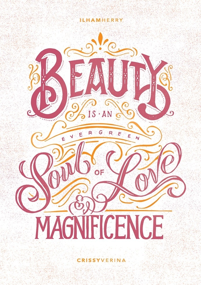 Beauty by Ilham Herry #lettering #hand #typography