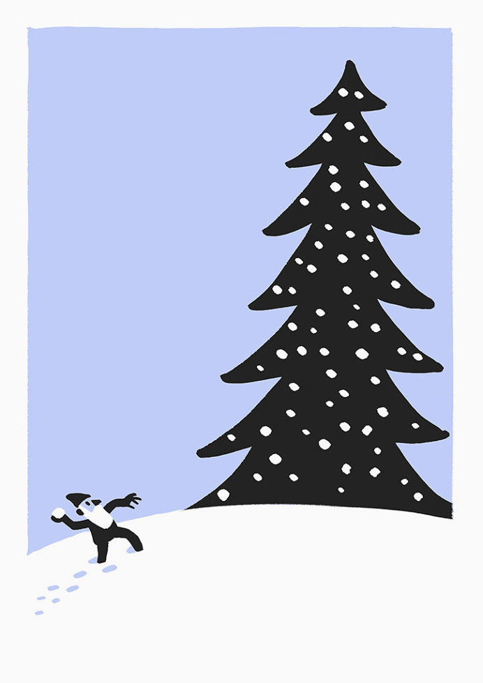 Best Illustration Drawing Christoph-niemann-christmas-cards-maammo ...
