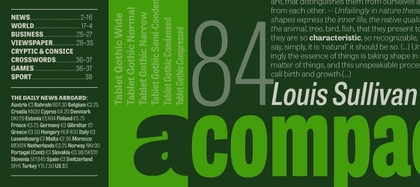 Tablet Gothic Type Together : High quality fonts and custom type design #fonts
