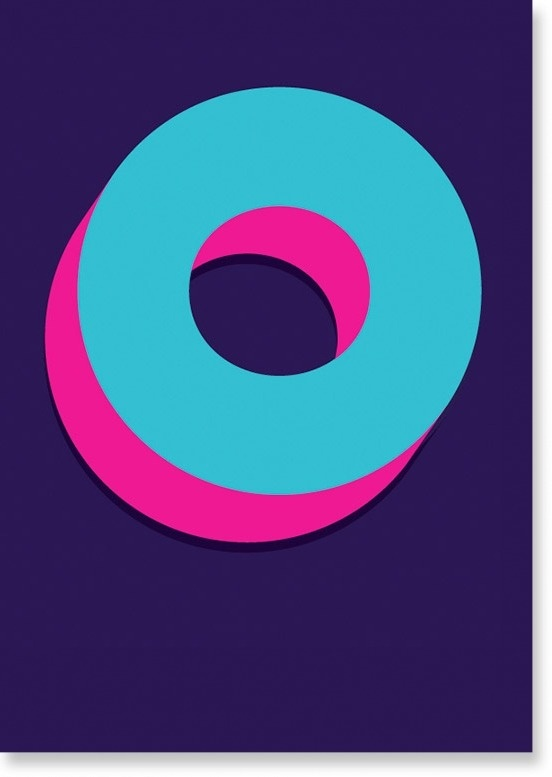 Dot by Ivan Crush #pink #color #circles #pill #purple #poster #blue