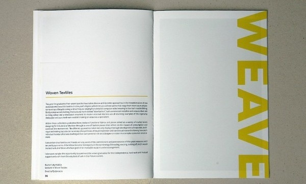 NCAD booklet #layout #booklet #brochure #textiles