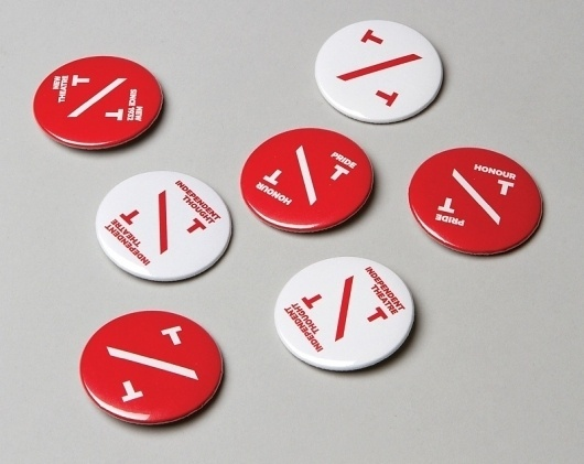 Klim Type Foundry - New Theatre #badge #white #red #theatre #new
