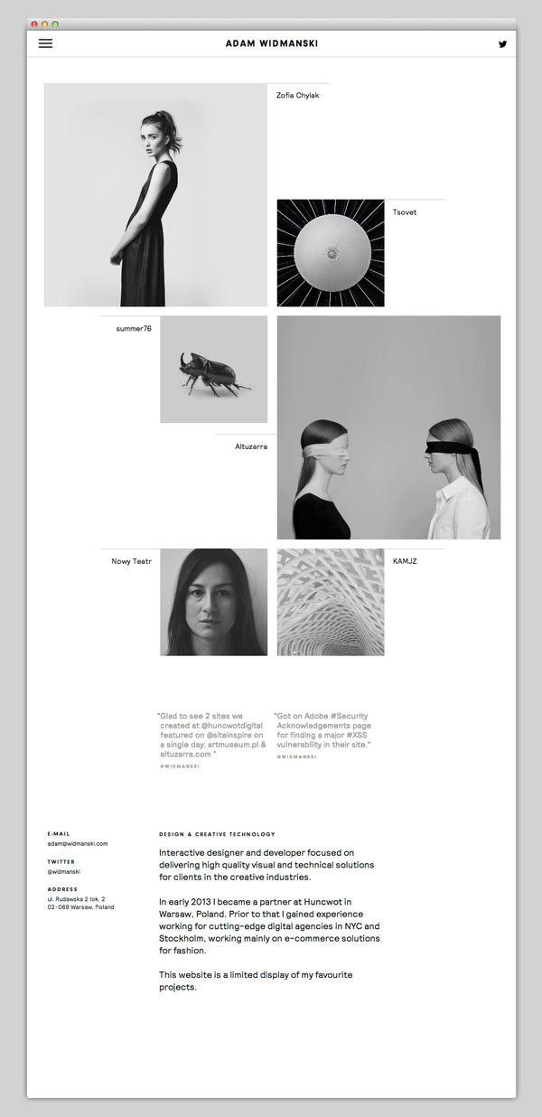 Adam Widmanski #website #layout #design #web