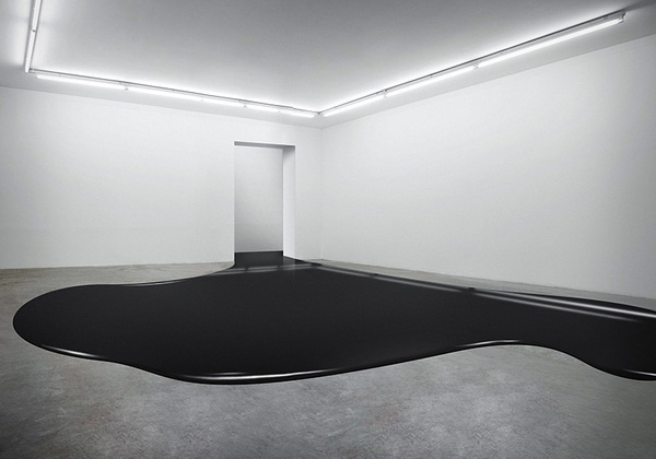 Fabian Bürgy | Arcademi #white #black #space #fluid #art #room