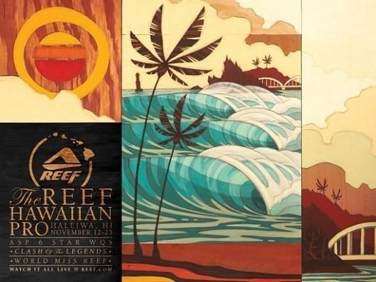 Reef Hawaiian Pro 2011 Artist Erik Abel   Abel Arts #artwork #surf