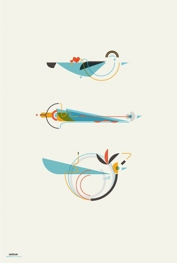 Leandro Castelao / 3 Birds #birds #illustration #design #graphic