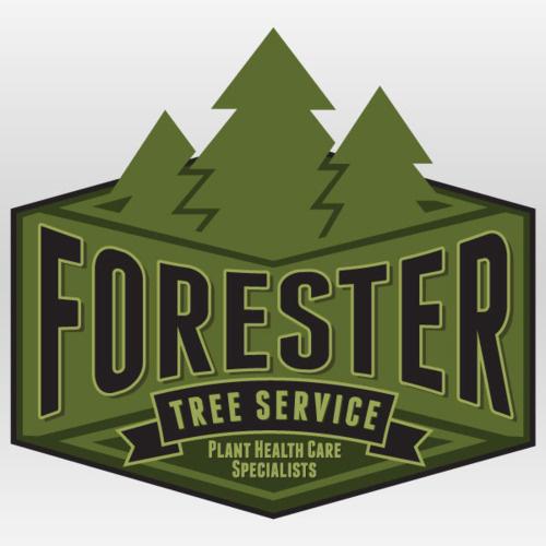 Forester Tree Service Branding By Rev Pop #badge #tree #advertising #brand #service #logo