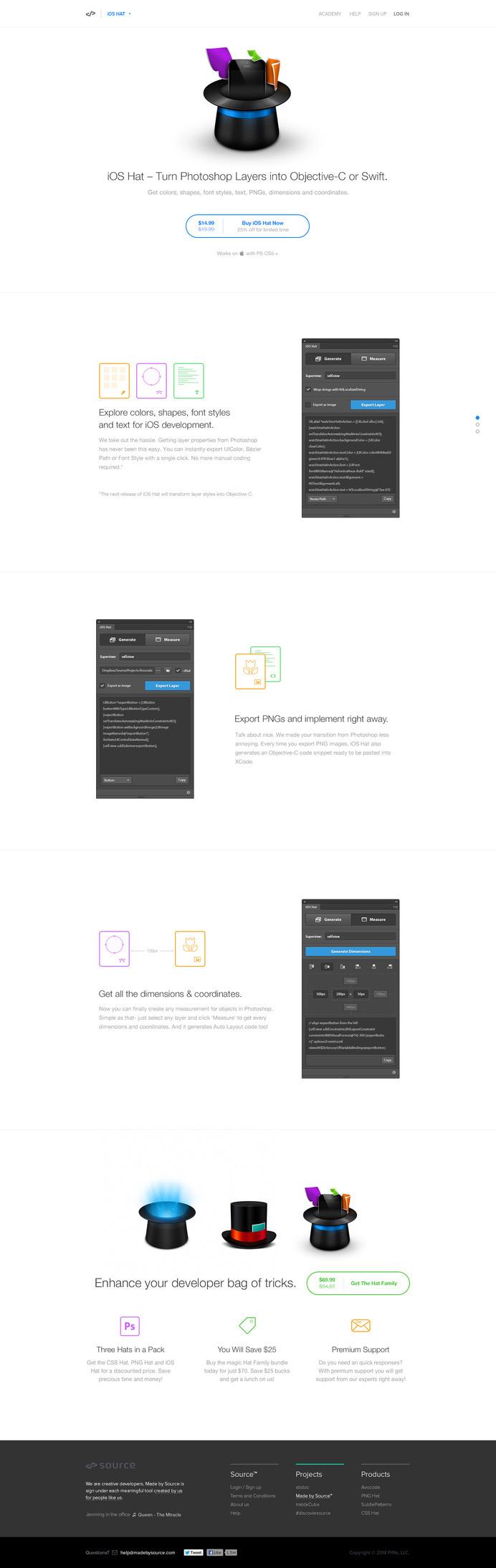 iOS Hat Landing page by David Stefanides #page #site #design #product #web #landing