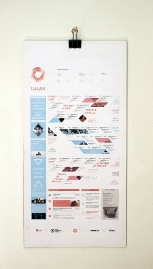 CALMA - Festival de Musica Folk on the Behance Network #festival #flyer #calma #poster #layout