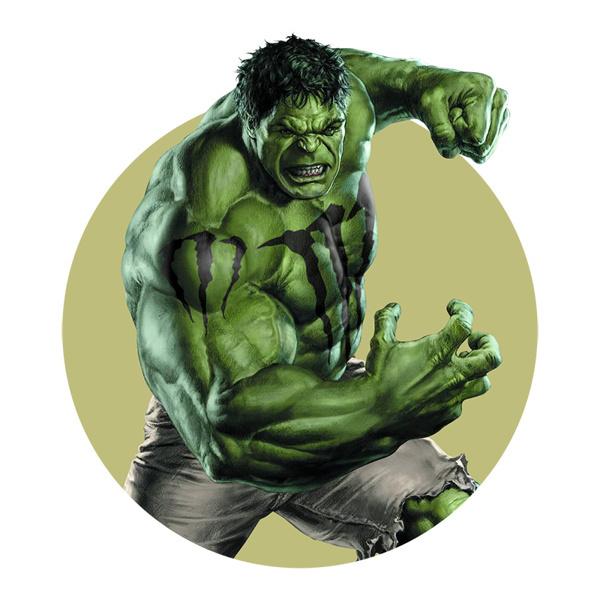 Sponsored Heroes on Behance #muscle #hulk #smash #sponsored #branded #comic #hero #illustration #green