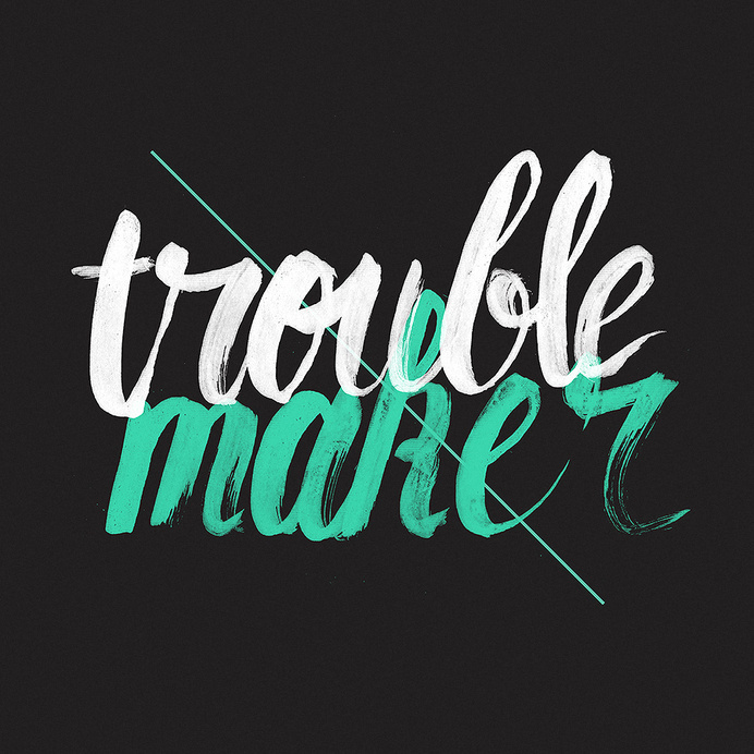 New Artwork - TroublemakerAvailable at Society6Disponível no Colab55 #lettering #koning #trouble #typography