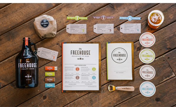The Freehouse #beer #branding #packaging #menu #restaurant #identity #minneapolis #logo