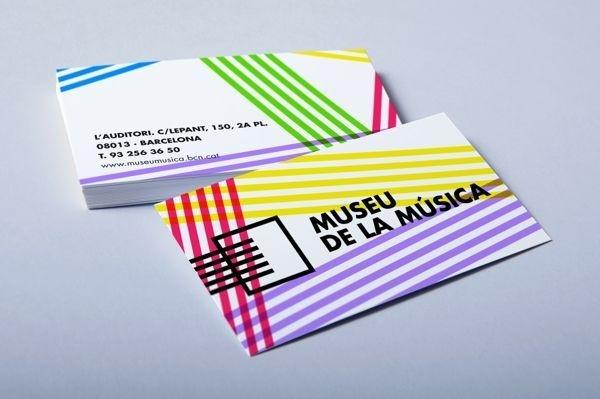 Museu de la música - Barcelona #visual #business #branding #museum #card #color #identity #barcelona #stationery #music #logo #cards