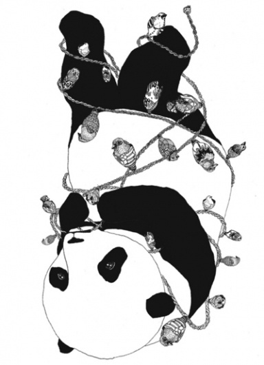 i'm not human. : radness. #white #panda #black #and #drawing