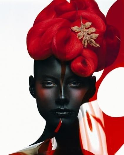 Sara Lindholm #fashion #photography #red #black