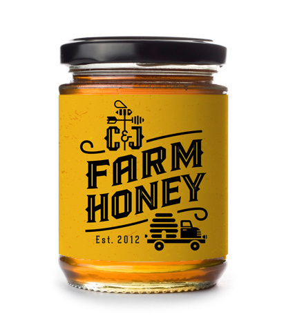bee, honey, beehive, truck, farm, label, mike, bruner