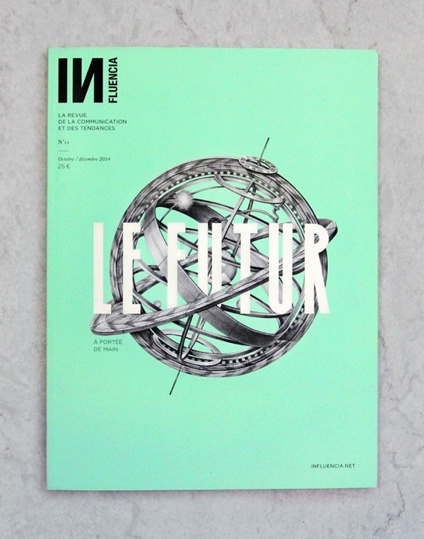Influencia n°11 on Behance #typography #cover #illustration #magazine #pastel