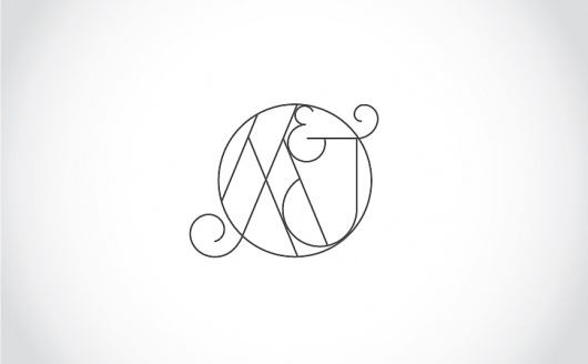 Benjamin Della Rosa // Graphic Design // Illustration #monogram #wedding #deco